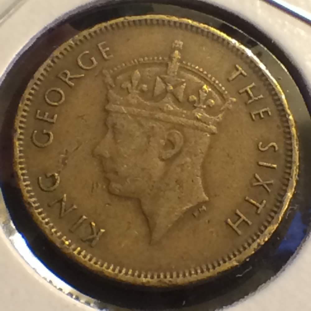Hong Kong 1948  George VI 10 Cent ( 10C ) - Obverse