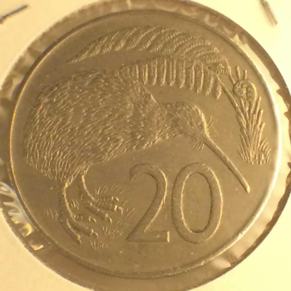1982 New Zealand 1967 1985 Elizabeth Ii 20 Cents Ofcc Ungraded 20c Ofcc 106 393