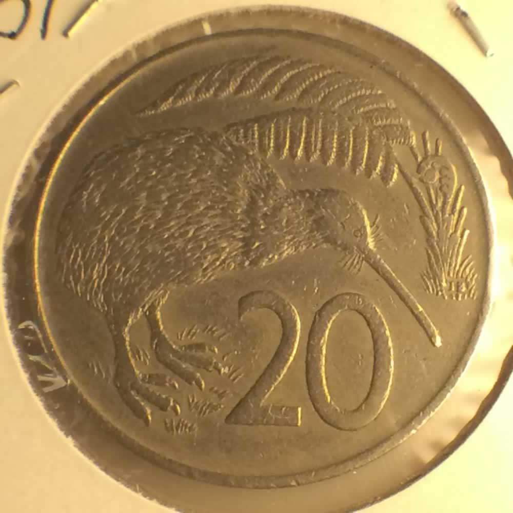 New Zealand 1967  20 Cents Kiwi Coin ( 20C ) - Reverse