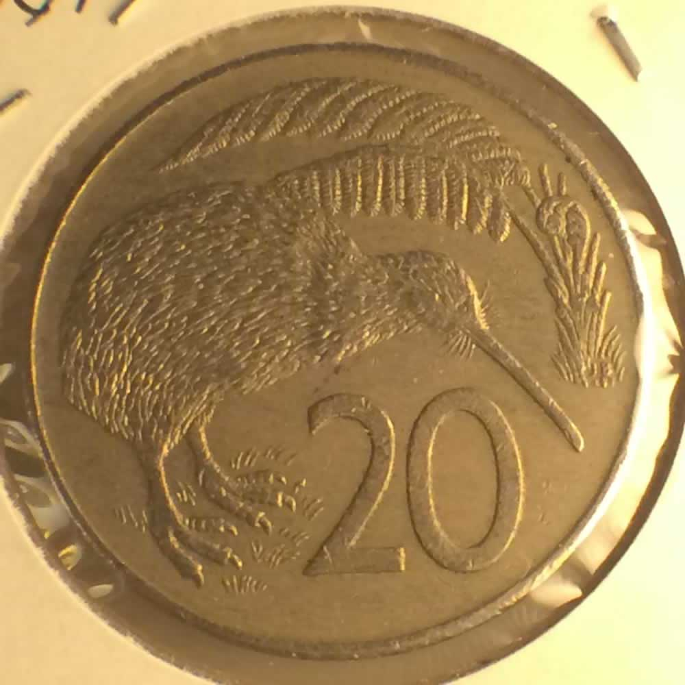 New Zealand 1981  20 Cents Kiwi Coin ( 20C ) - Reverse