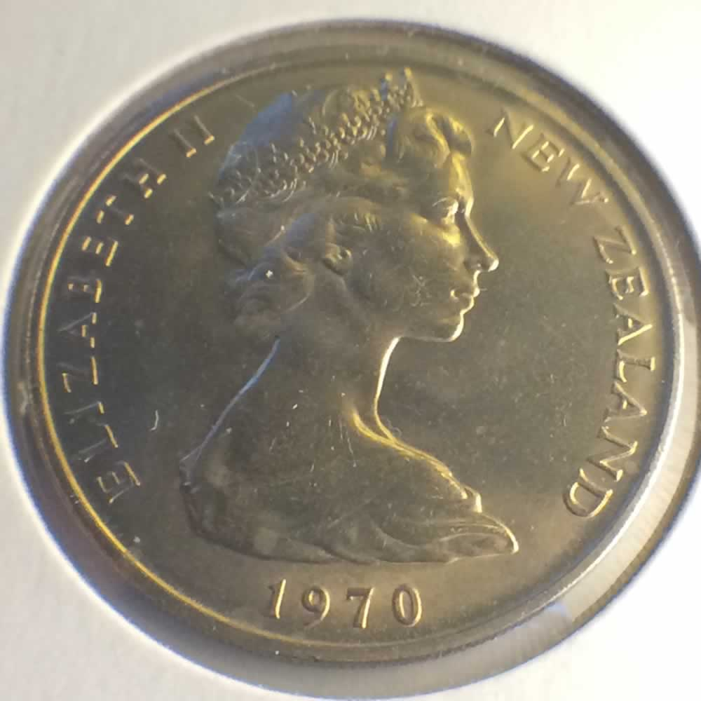 1970 New Zealand 1967 1985 Elizabeth Ii 20 Cents Ofcc Ungraded 20c Ofcc 106 622
