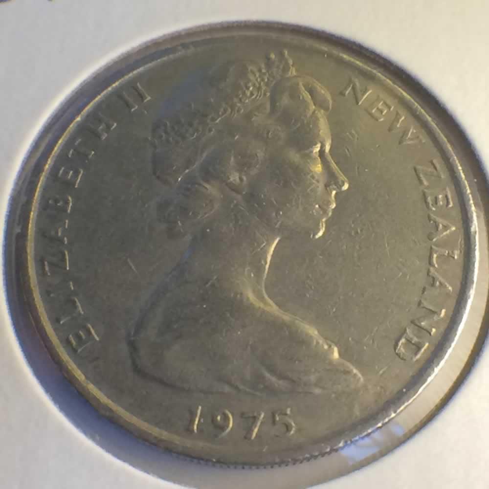 1975 New Zealand 1967 1985 Elizabeth Ii 20 Cents Ofcc Ungraded 20c Ofcc 106 627