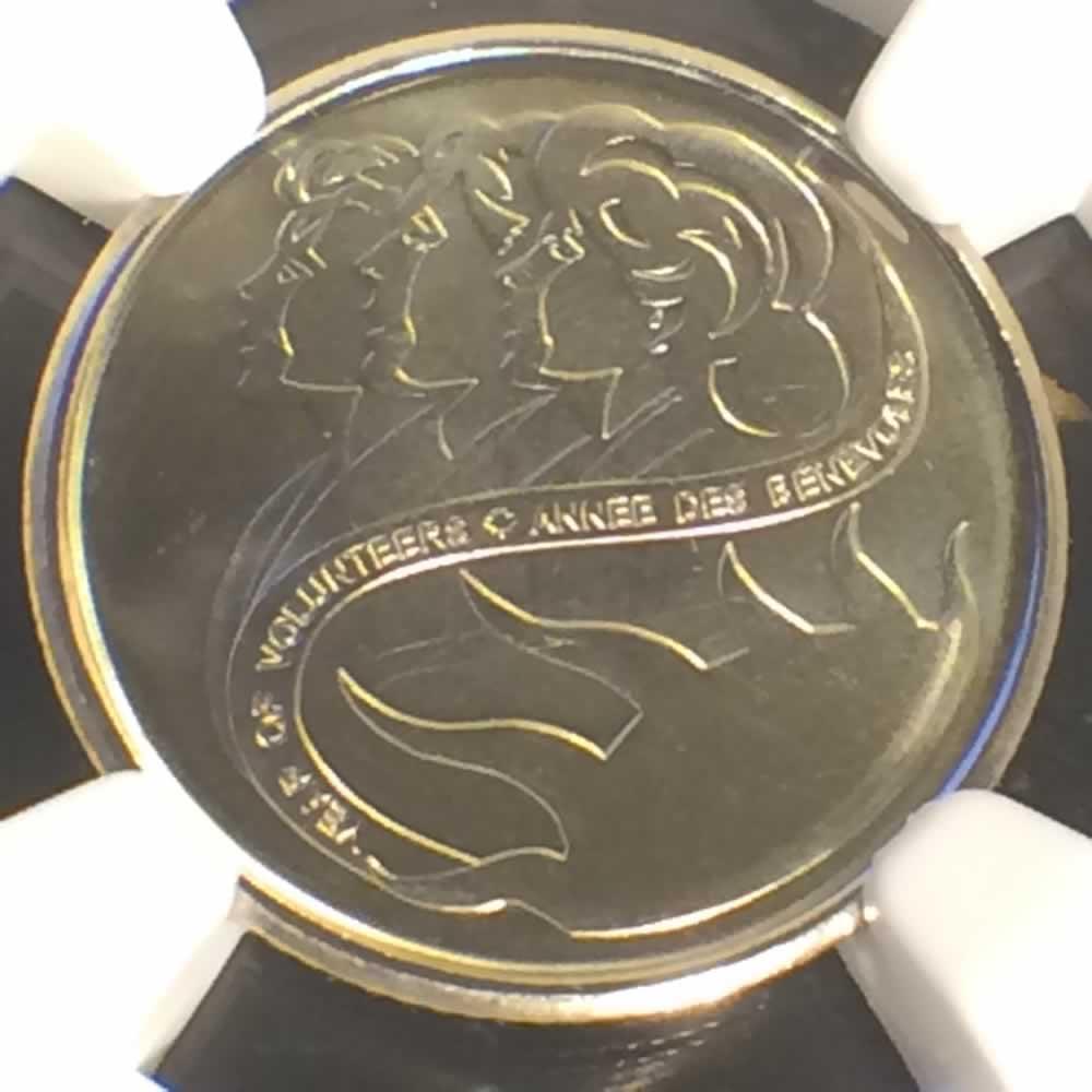 2001 Canada 2001 Year Of The Volunteers Silver Ten
