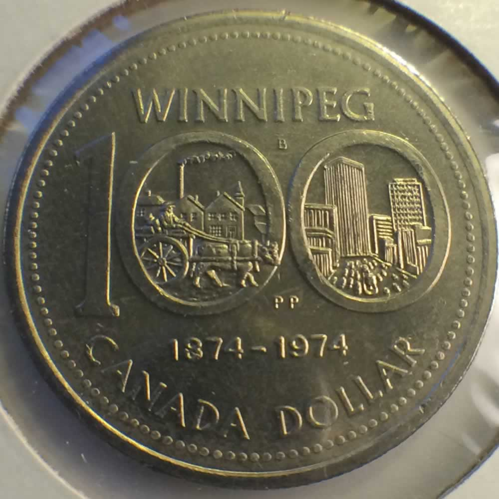 Canada 1974  100th Anniversary of Winnipeg ( $1 ) - Reverse