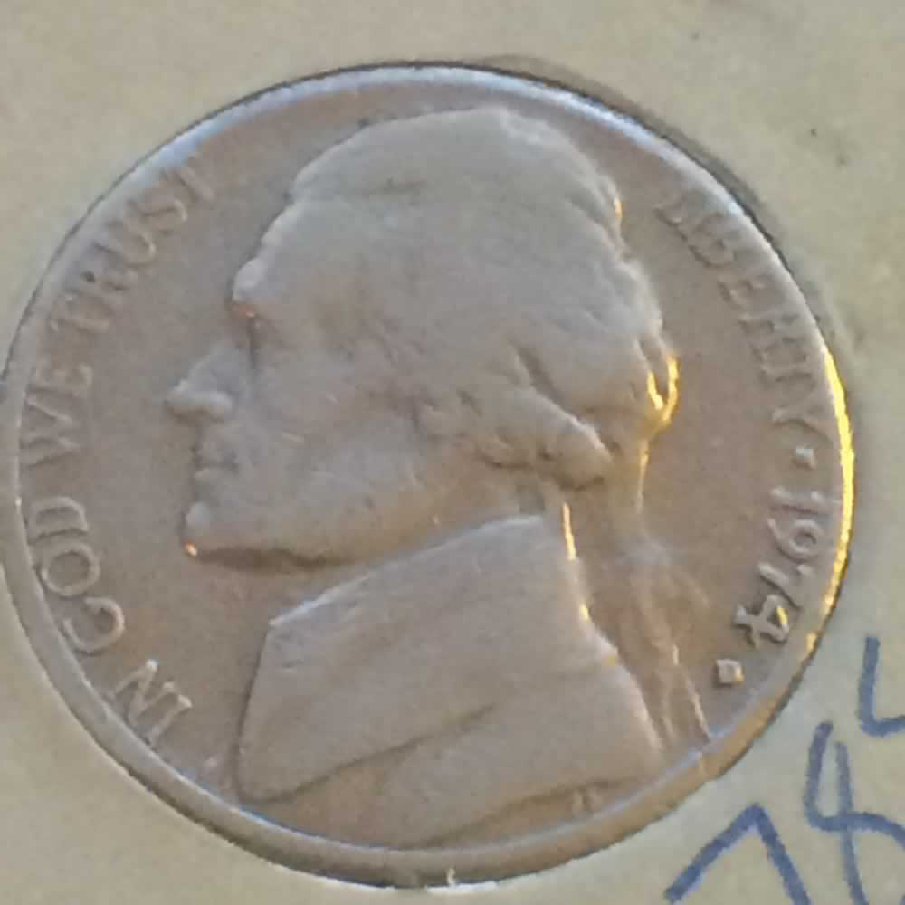 US 1974 D Jefferson Nickel ( 5C ) - Obverse