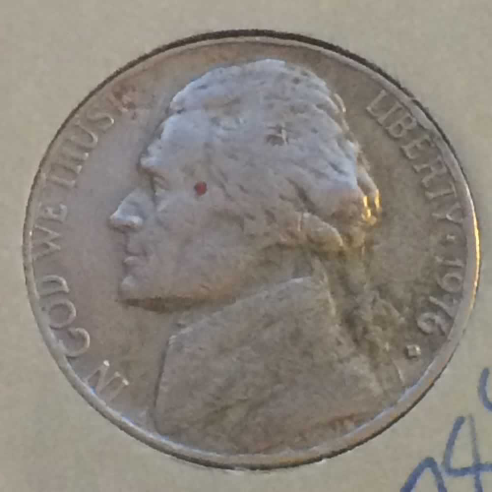 US 1976 D Jefferson Nickel ( 5C ) - Obverse