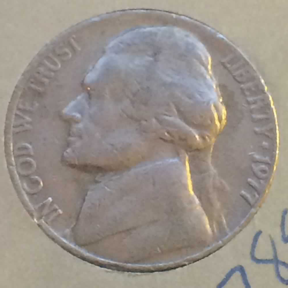 US 1977  Jefferson Nickel ( 5C ) - Obverse