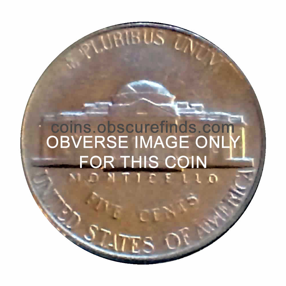 US 1977  Jefferson Nickel ( 5C ) - Reverse
