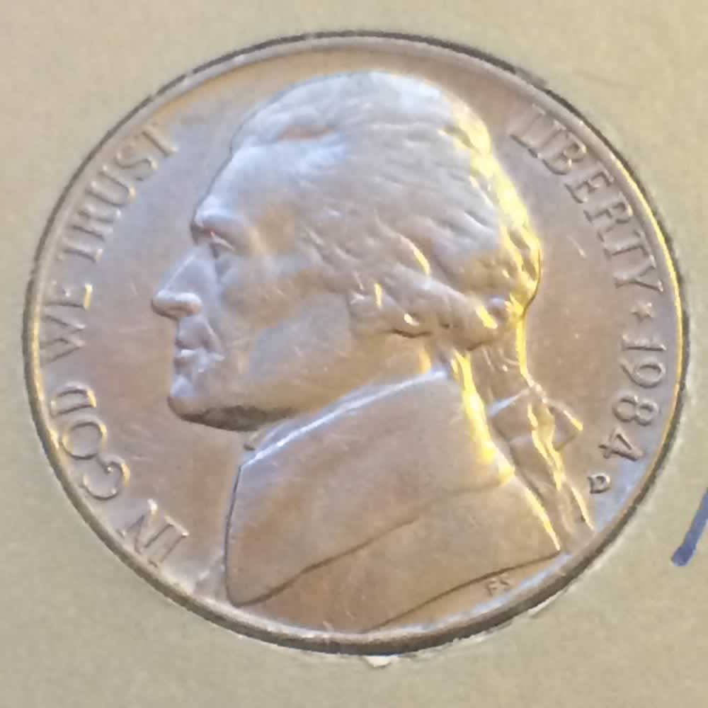US 1984 D Jefferson Nickel ( 5C ) - Obverse