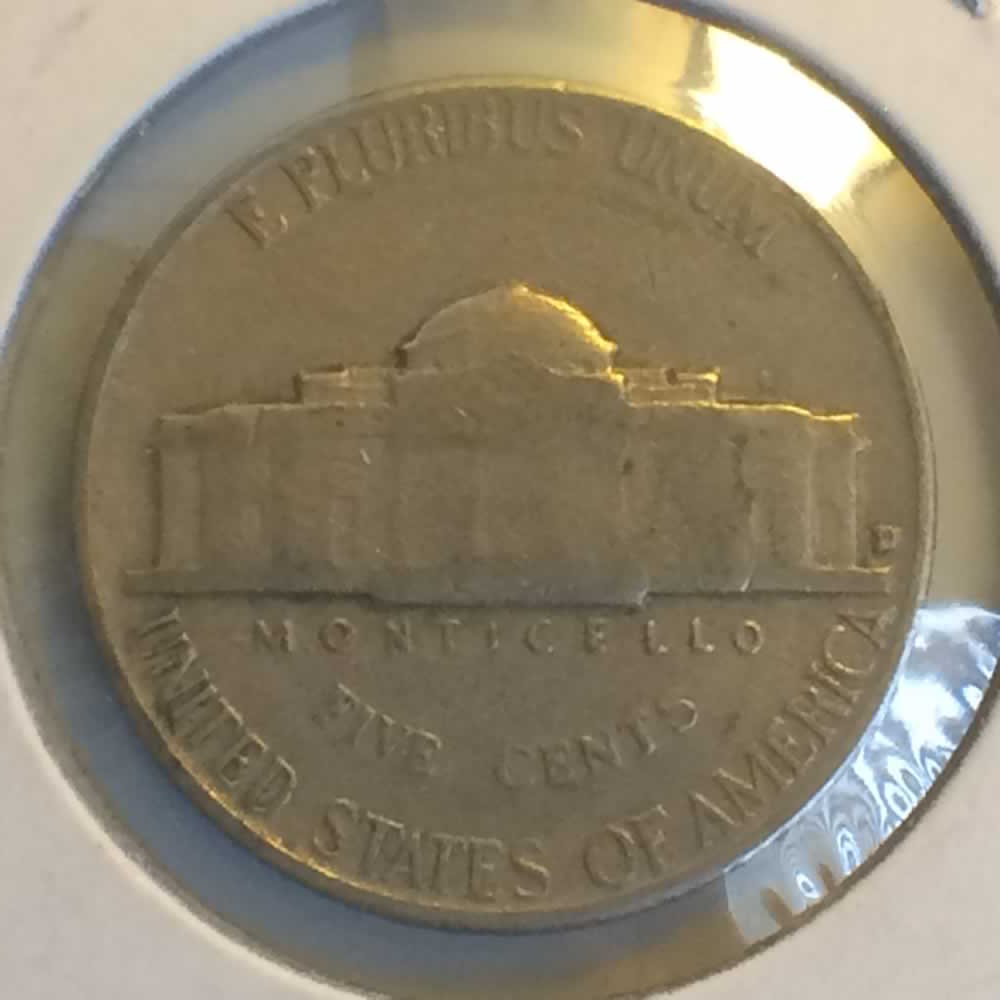 US 1956 D Jefferson Nickel 5C