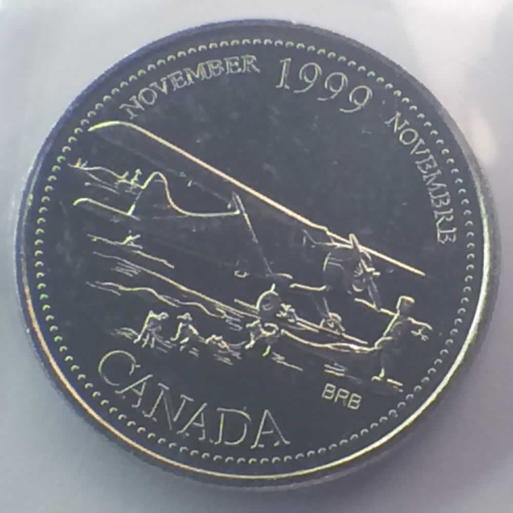 1999 Canada 1999 2000 Elizabeth Ii Millennium Quarter Ofcc Uncirculated C25c Ofcc