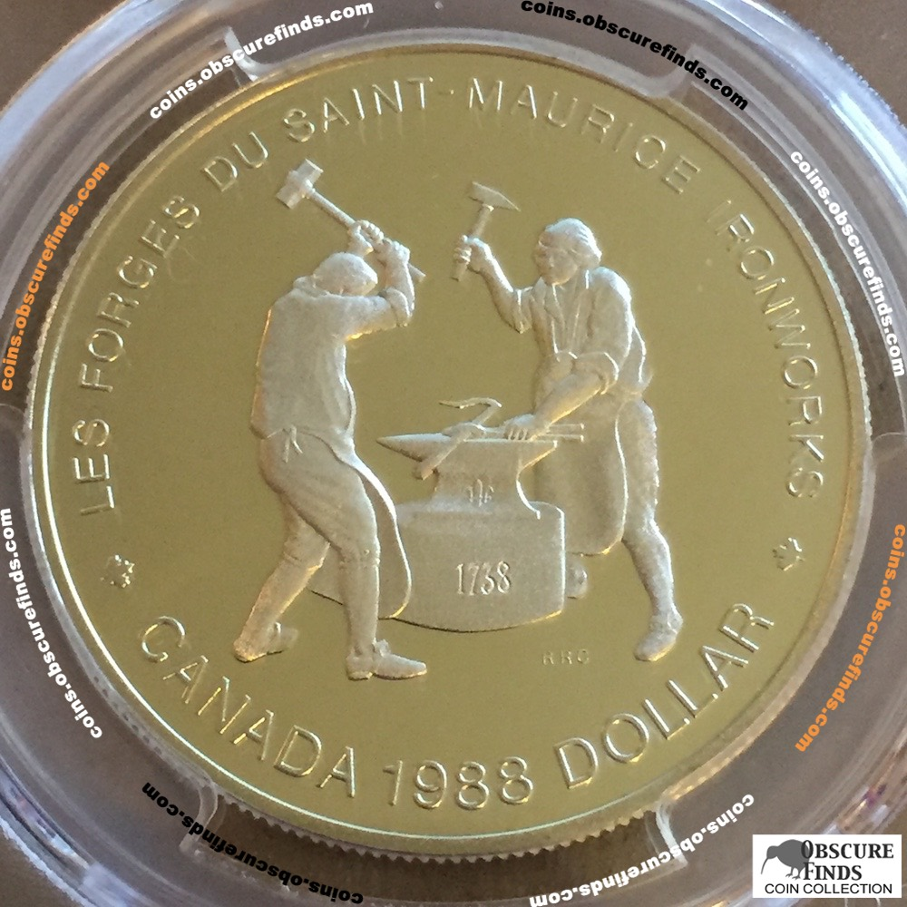 Canada 1988  PCGS St.Maurice Silver Dollar ( CS$1 ) - Obverse