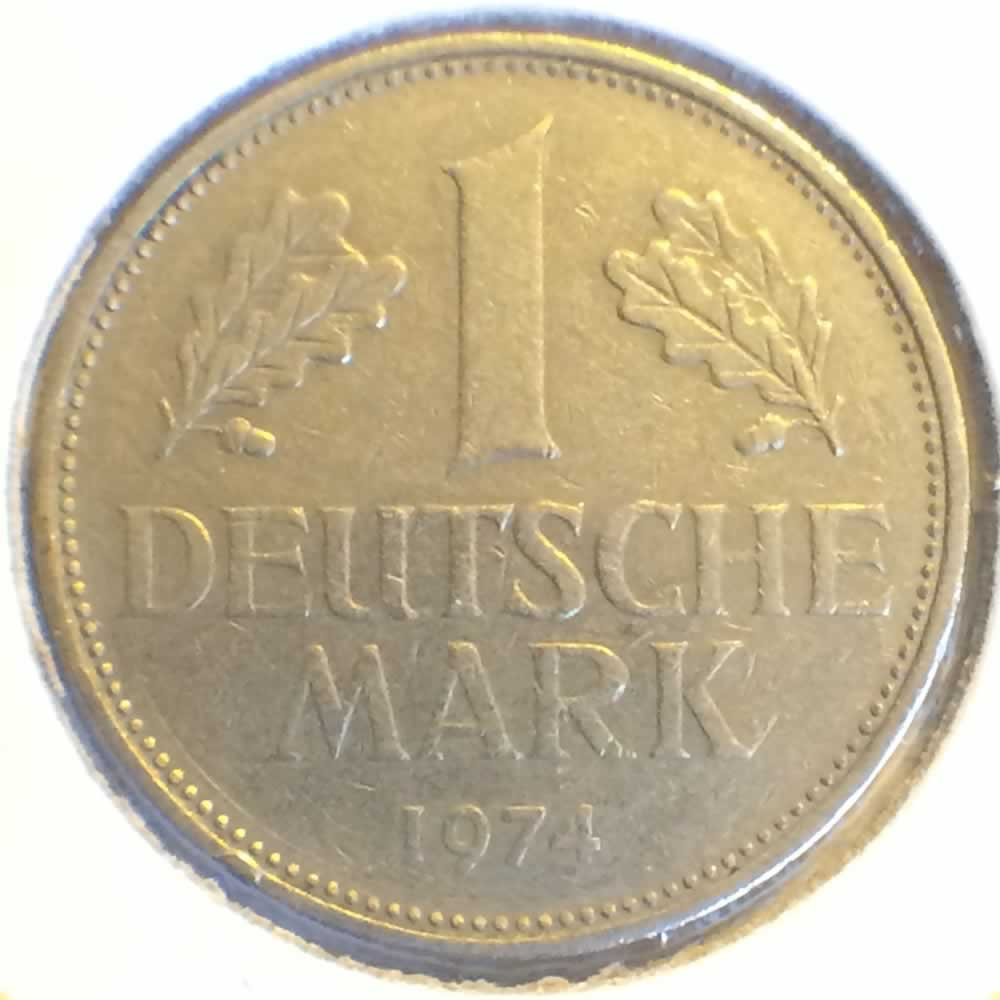 1974 Deutsche Mark Coin Germany 1974 d 1 Deutsche Mark