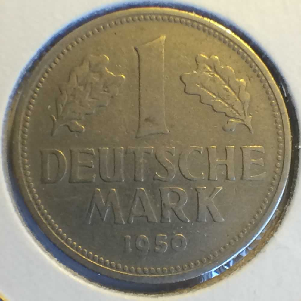 Germany 1950 G 1 Deutsche Mark ( DM 1 ) - Obverse