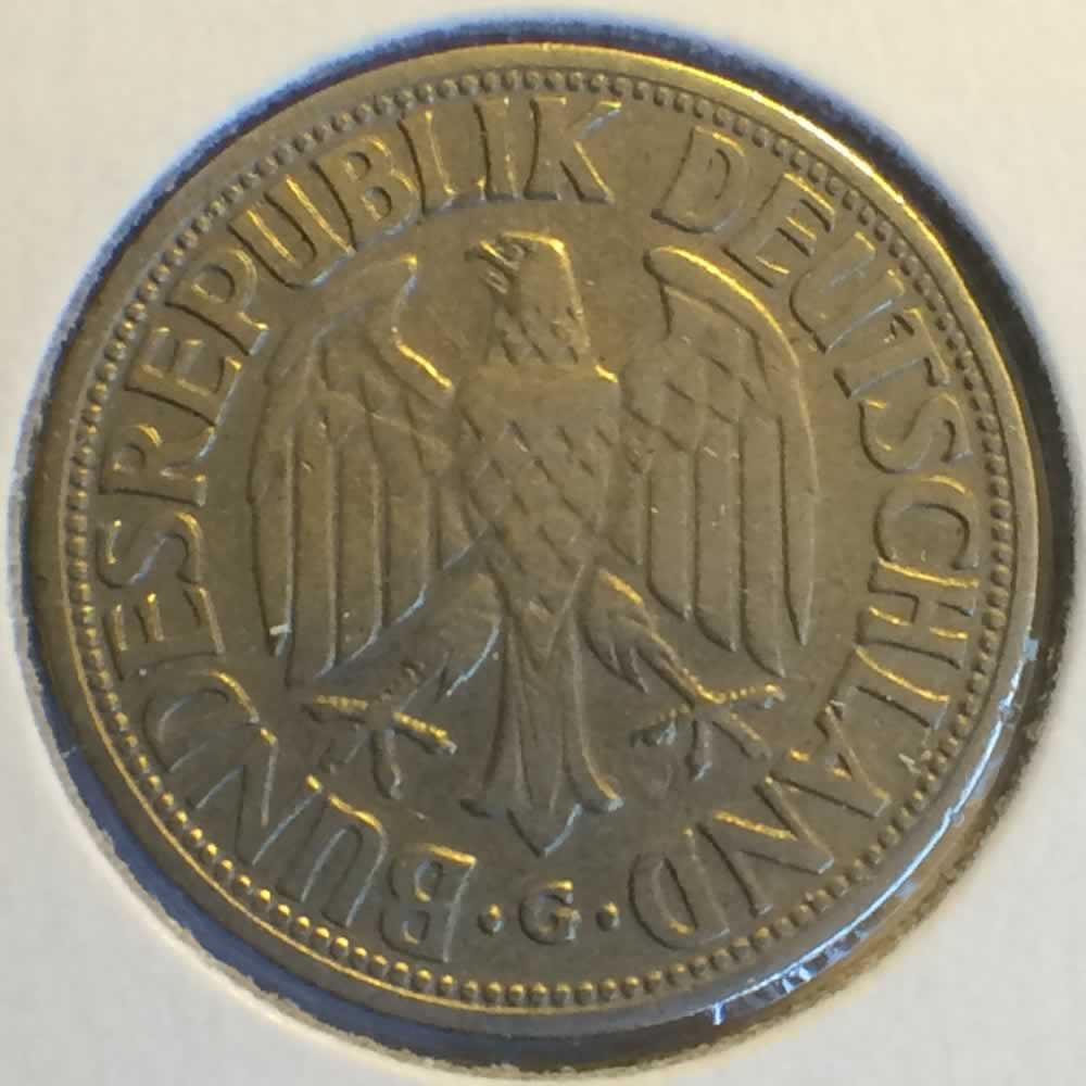 Germany 1950 G 1 Deutsche Mark ( DM 1 ) - Reverse