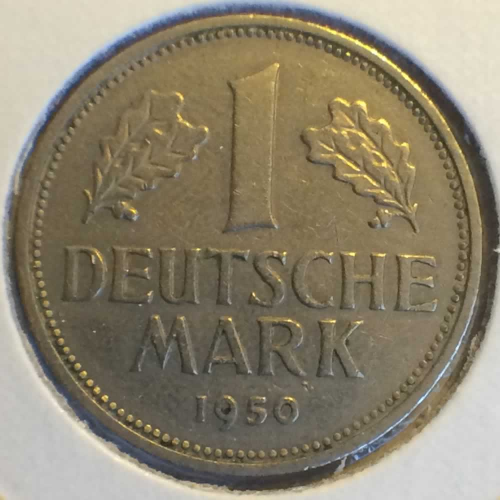 Germany 1950 F 1 Deutsche Mark ( DM 1 ) - Obverse