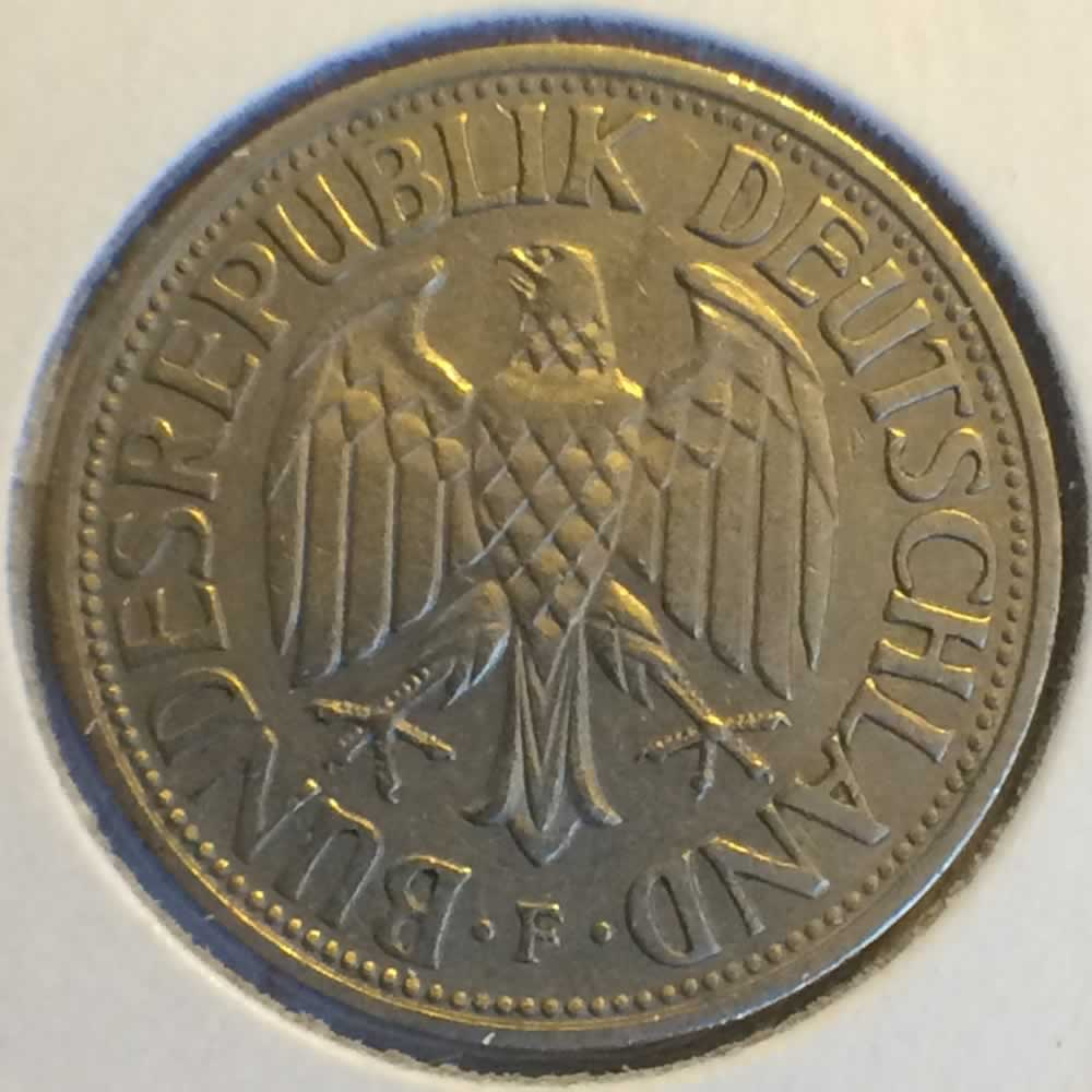 Germany 1950 F 1 Deutsche Mark ( DM 1 ) - Reverse