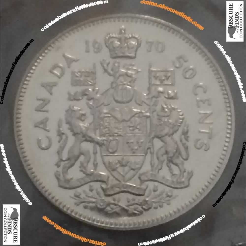 Canada 1970  Canadian Fifty Cents RCM ( C50C ) - Reverse