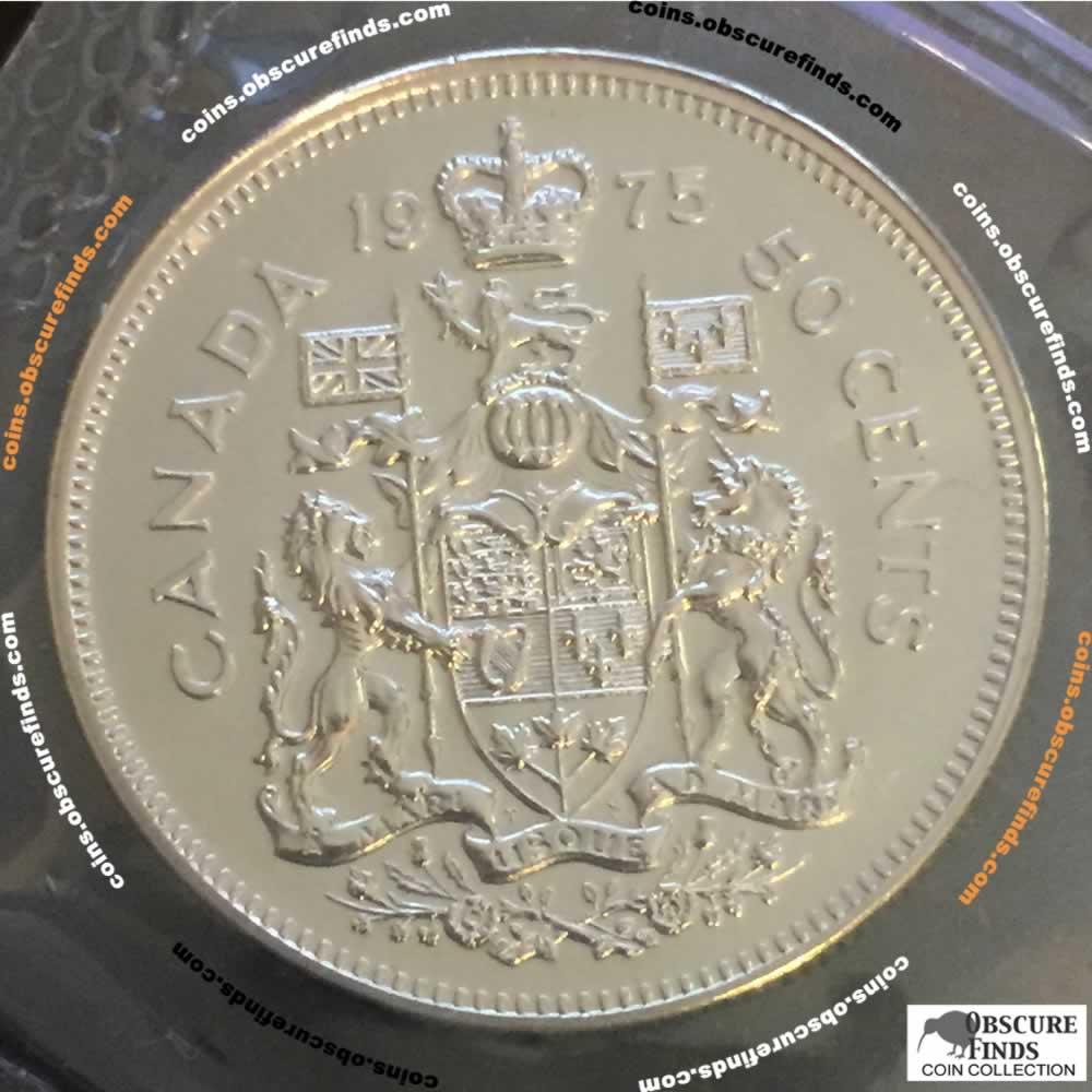 1975 Canada 1968 1989 Elizabeth Ii Canadian Fifty Cents Rcm Uncirculated Rcm Mint Set