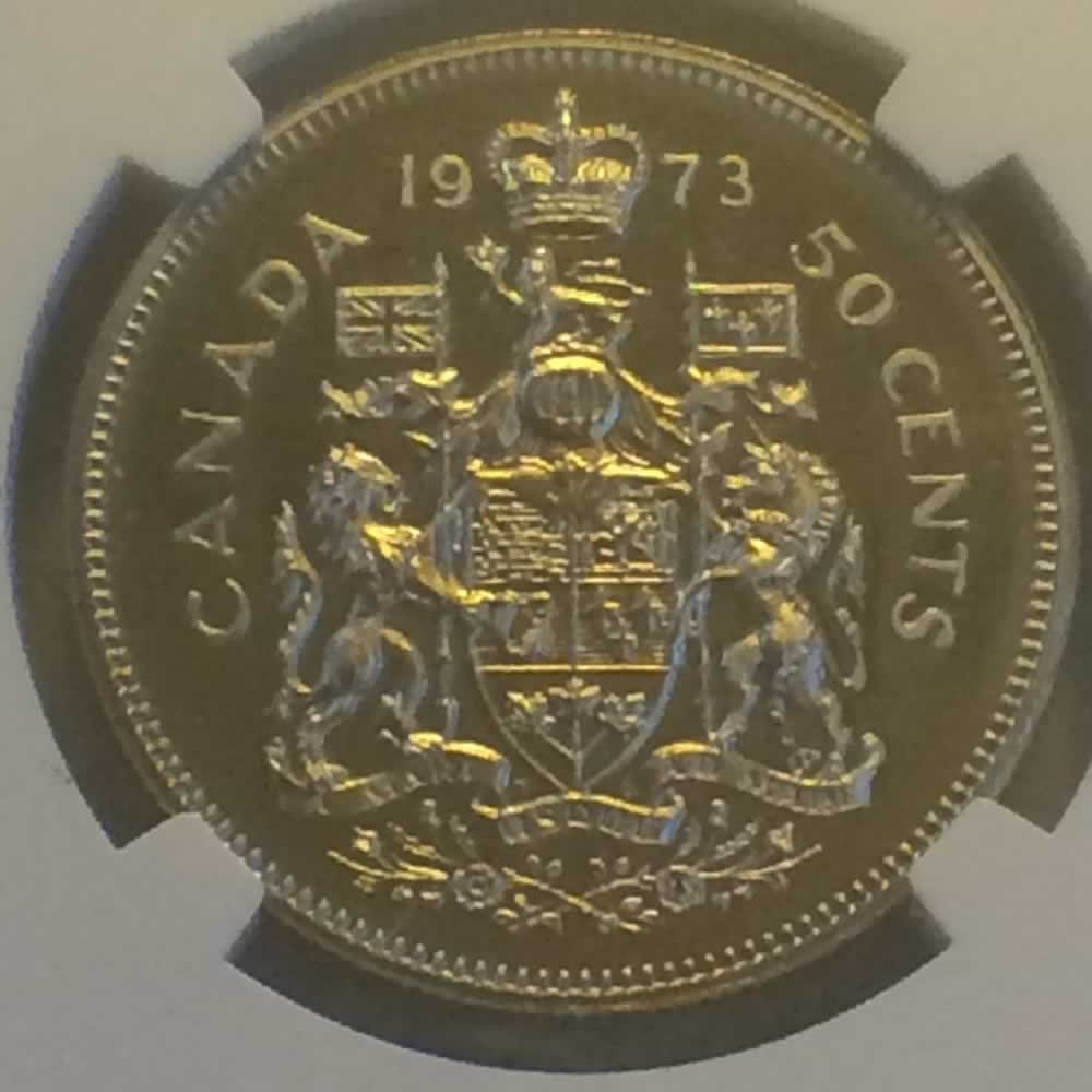 Canada 1973  Canadian Fifty Cents ( C50C ) - Reverse