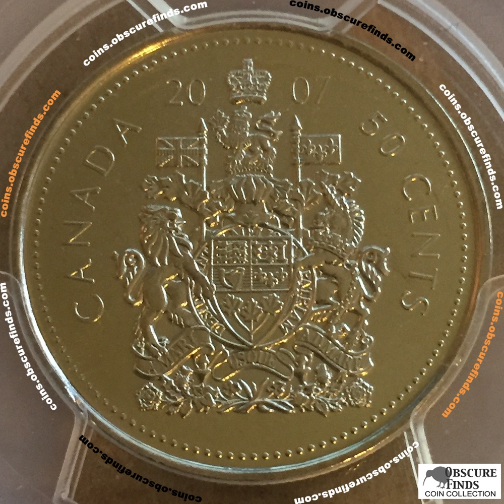 Canada 2007  PCGS Canadian Fifty Cents ( C50C ) - Reverse