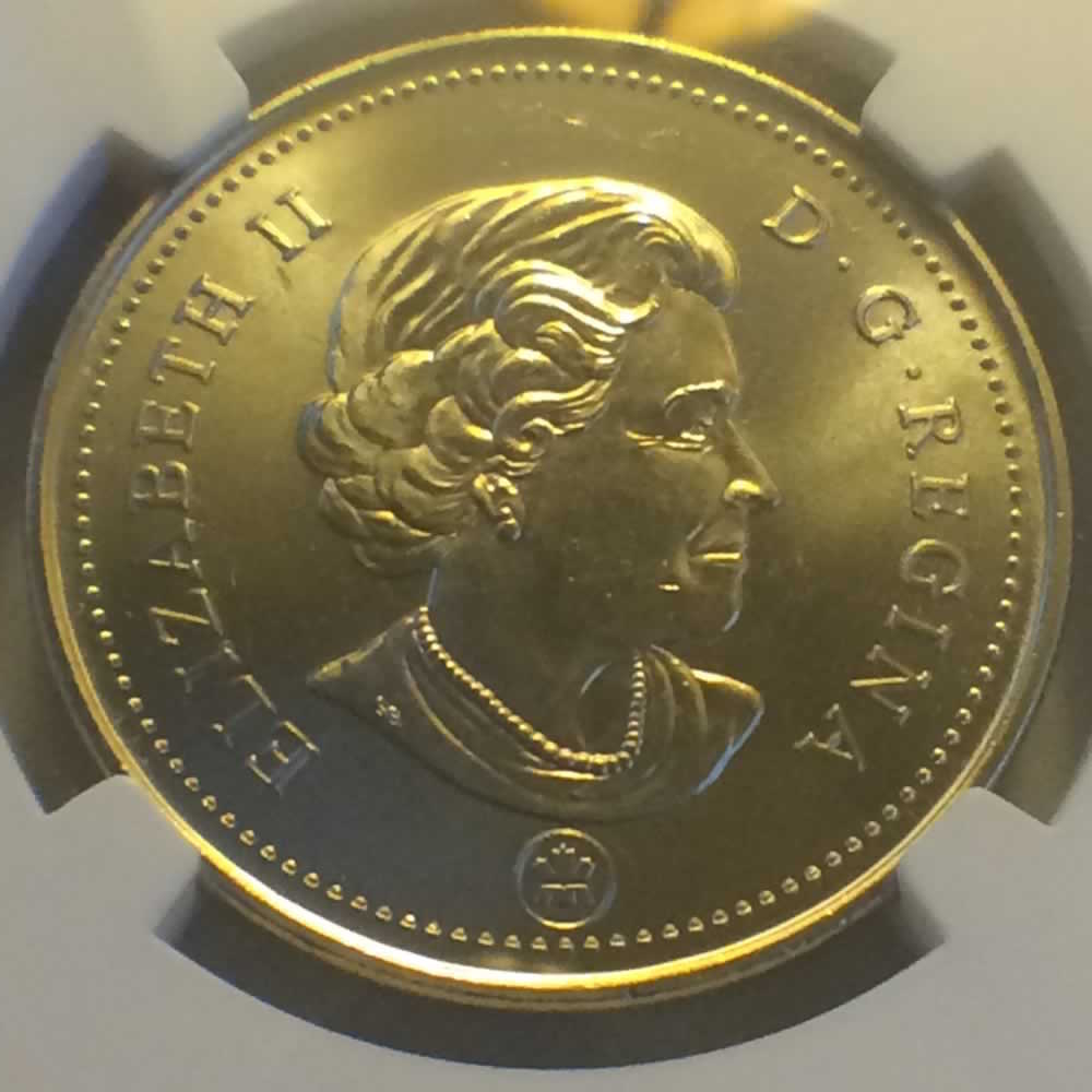 Canada 2010  Canadian Fifty Cents ( C50C ) - Obverse