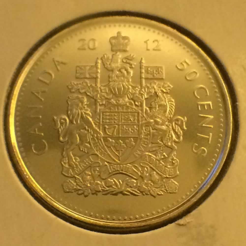 Canada 2012  Canadian 50 Cents ( C50C ) - Reverse