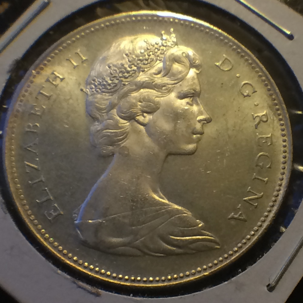 Canada 1966 Voyageur Silver Dollar LB CS1