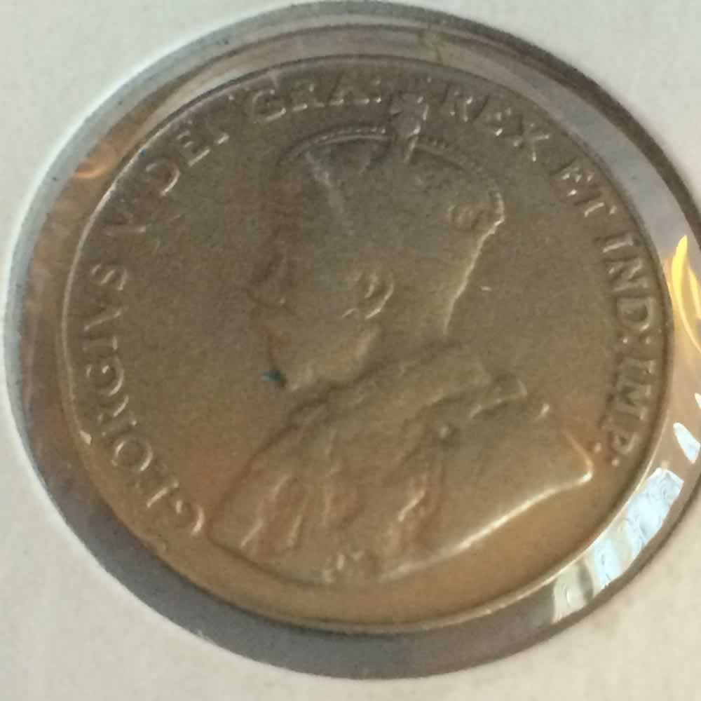 Canada 1924  Canadian 5 Cents ( C5C ) - Obverse