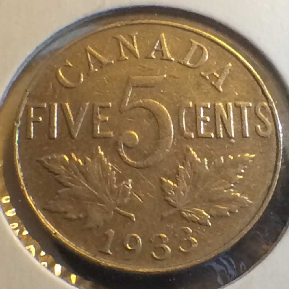 Canada 1933  Canadian 5 Cents ( C5C ) - Reverse