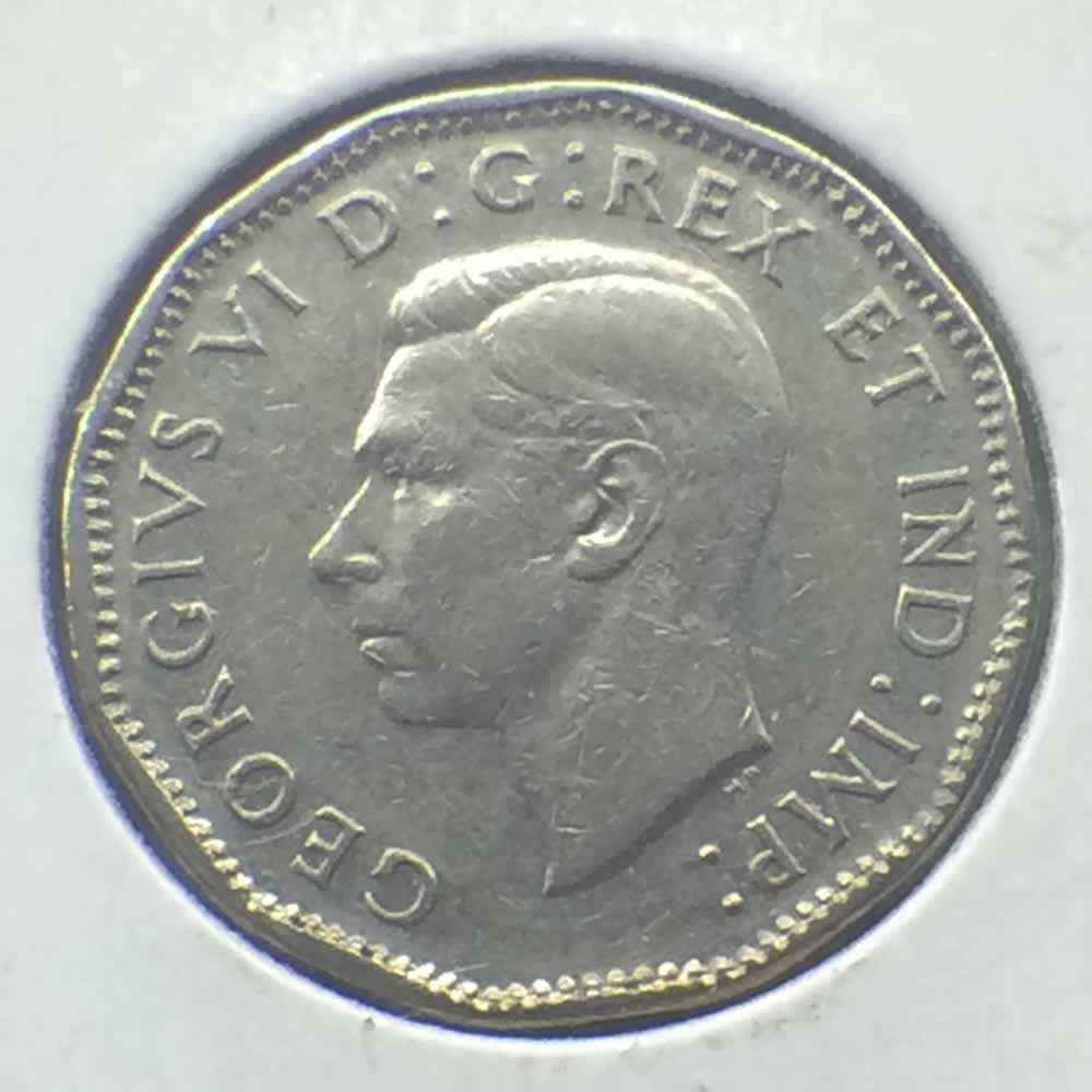 Canada 1947  Canadian 5 Cents ( C5C ) - Obverse
