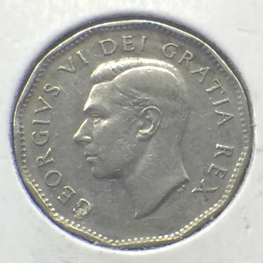 Canada 1950  Canadian 5 Cents ( C5C ) - Obverse
