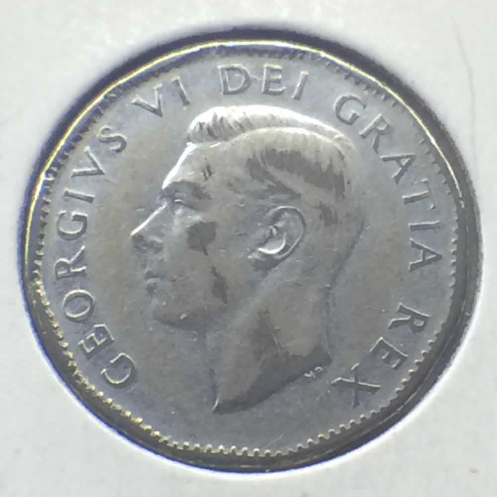 Canada 1951  Canadian 5 Cents - Low Relief ( C5C ) - Obverse