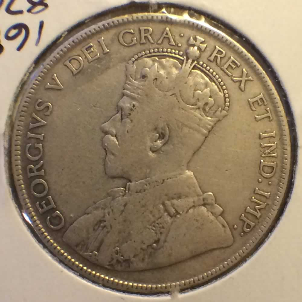 Canada 1918  Canadian 50 Cents ( C50C ) - Obverse