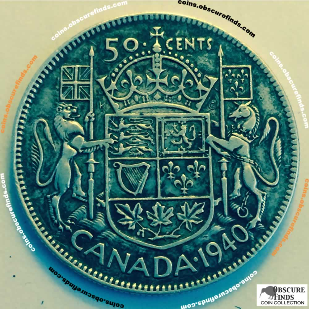 Canada 1940  Canadian 50 Cents ( C50C ) - Reverse