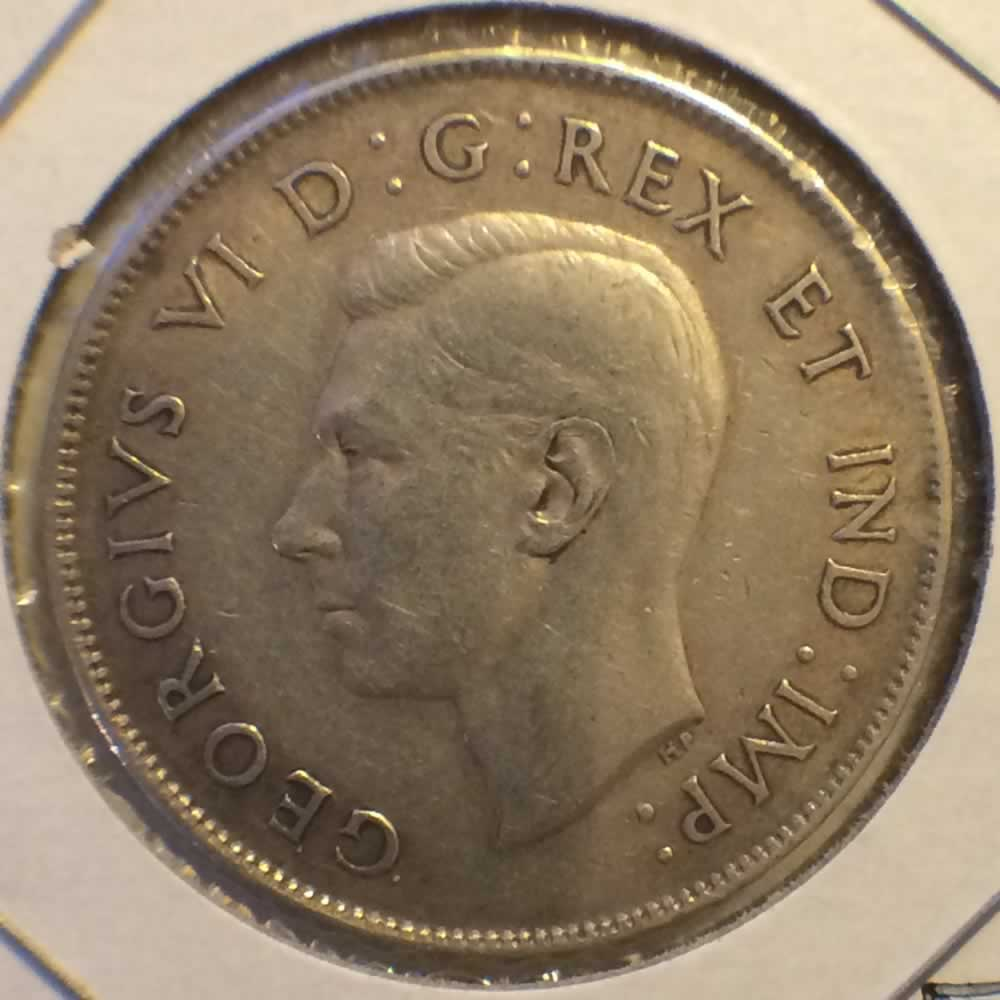 Canada 1944  Canadian 50 Cents - FAR 4 ( C50C ) - Obverse