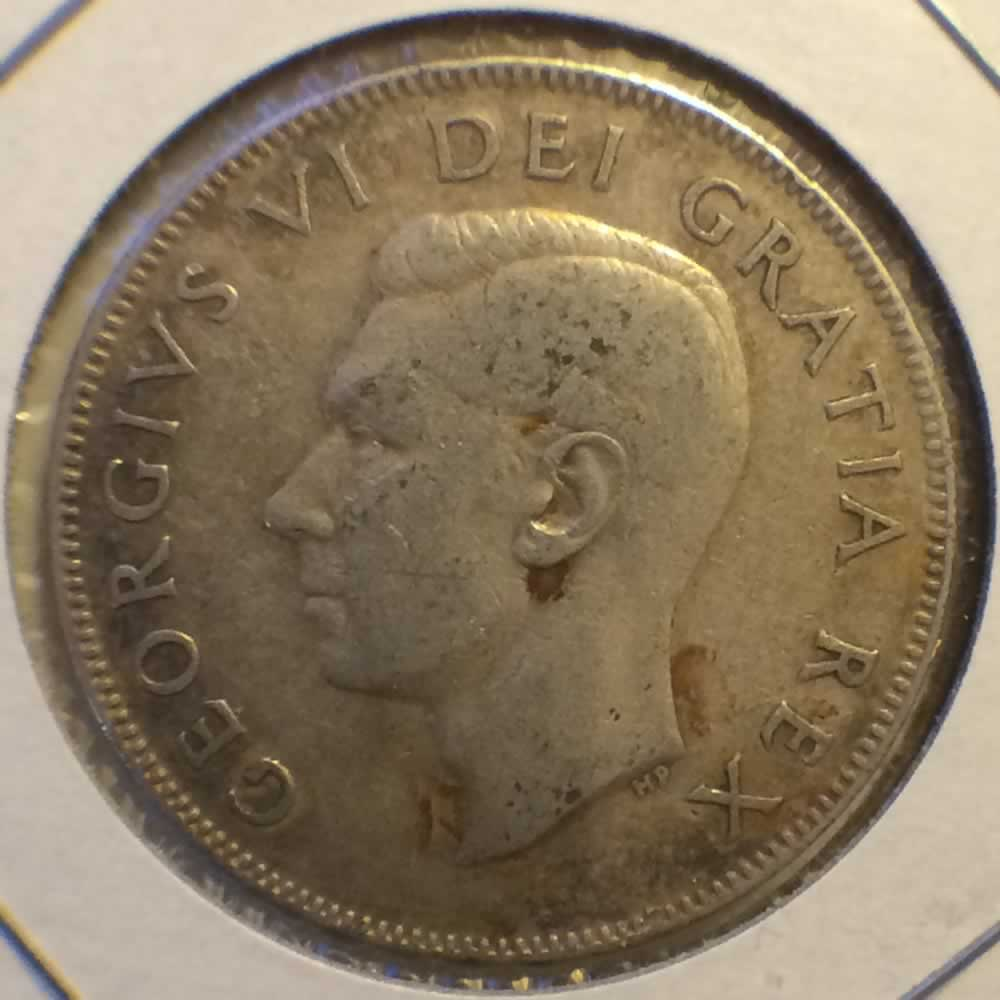 Canada 1951  Canadian 50 Cents ( C50C ) - Obverse