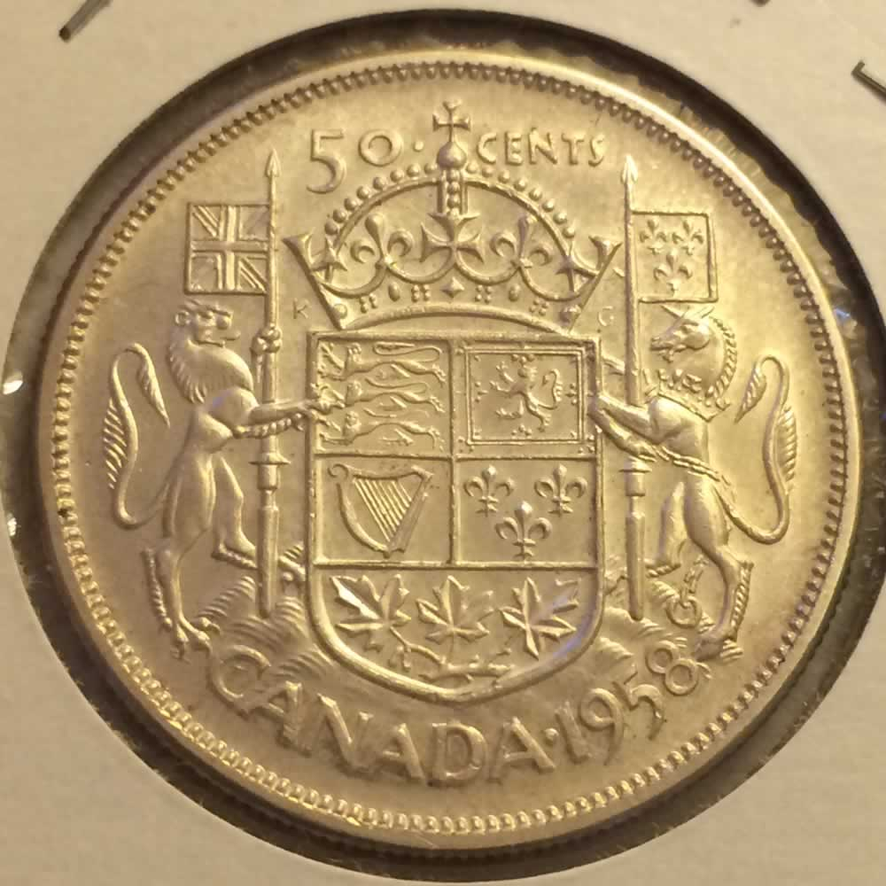 Canada 1958  Canadian 50 Cents ( C50C ) - Reverse
