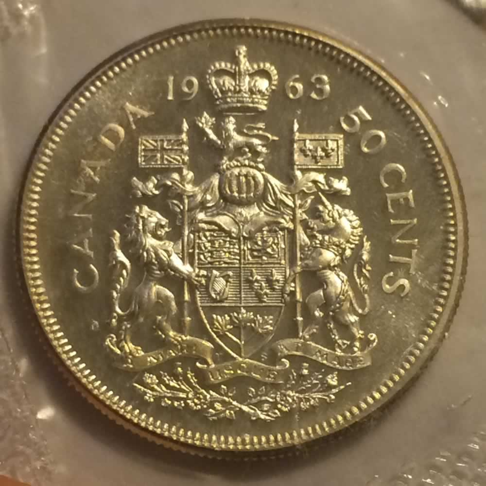 Canada 1963  Canadian Fifty Cent RCM ( C50C ) - Reverse