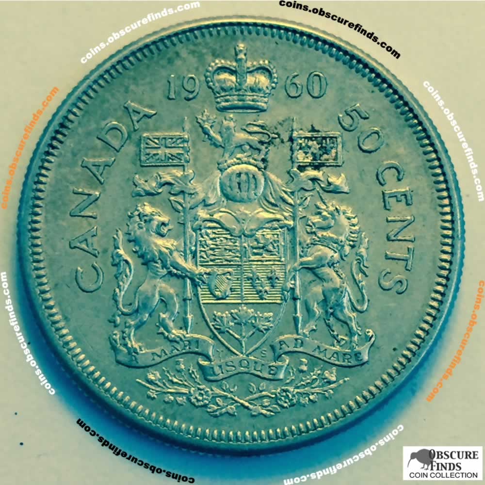 Canada 1960  Canadian 50 Cents ( C50C ) - Reverse