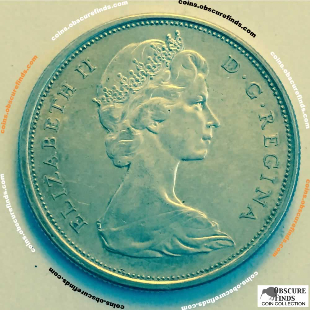 Canada 1965  Canadian 50 Cents ( C50C ) - Obverse
