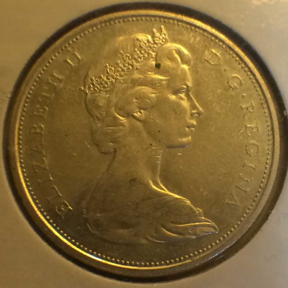 Canada 1966  Canadian 50 Cents ( C50C ) - Obverse