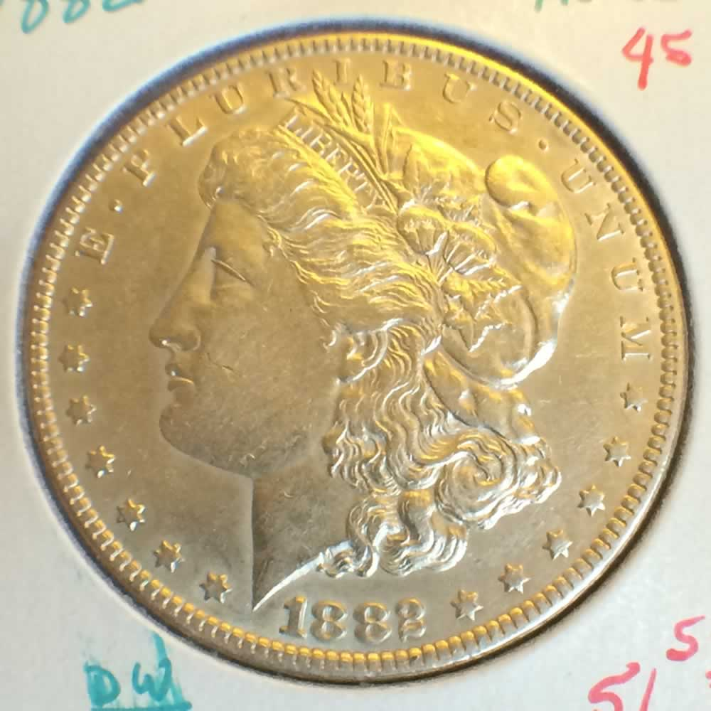 US 1882  Morgan Silver Dollar ( S$1 ) - Obverse