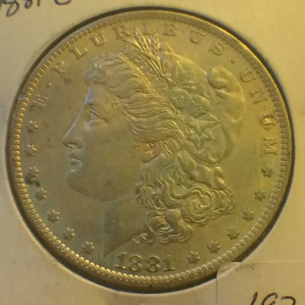 US 1884 O Morgan Dollar ( S$1 ) - Obverse