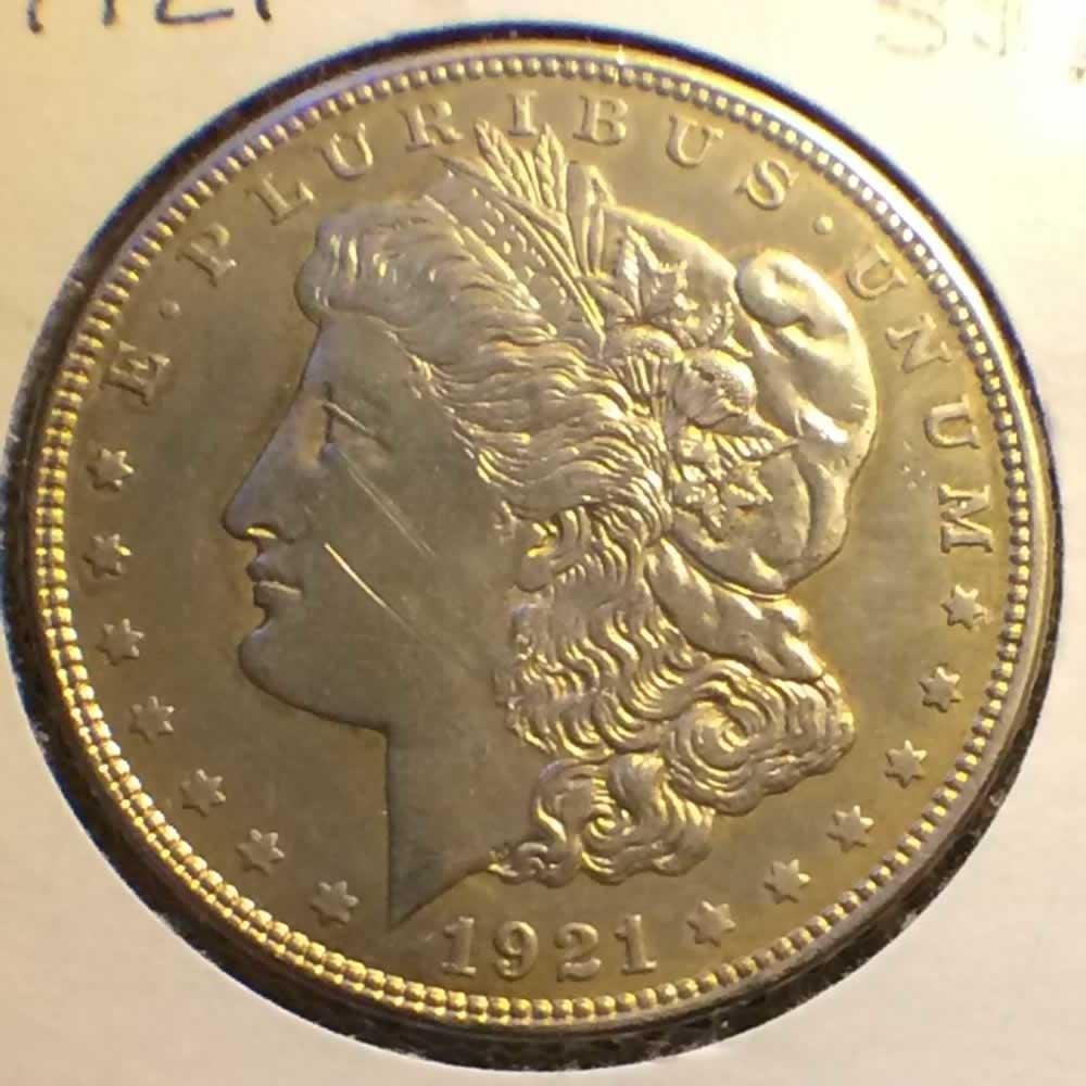 1921 Us 1878 1921 Morgan Silver Dollar Ofcc Ungraded