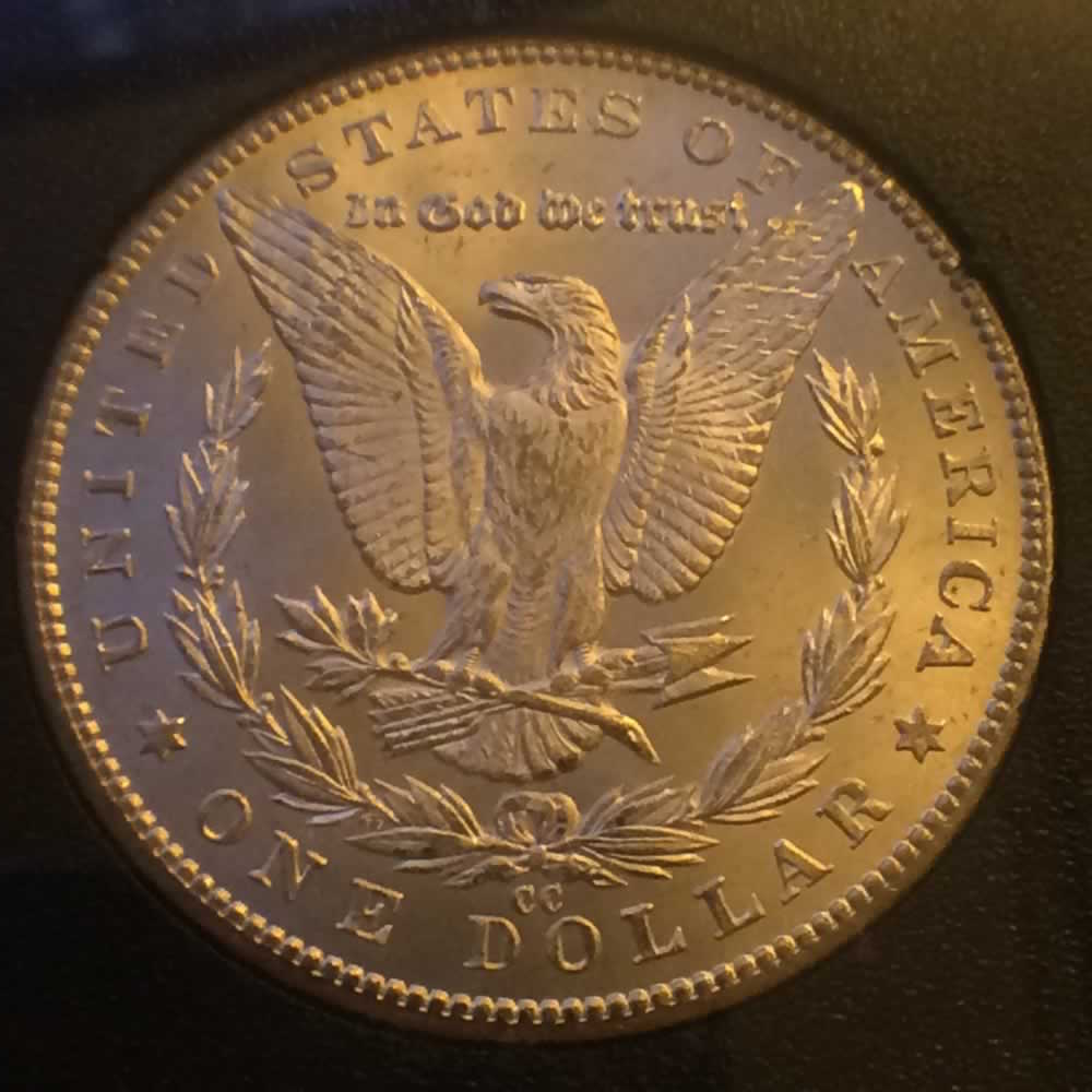 US 1884 CC Morgan Dollar ( S$1 ) - Reverse