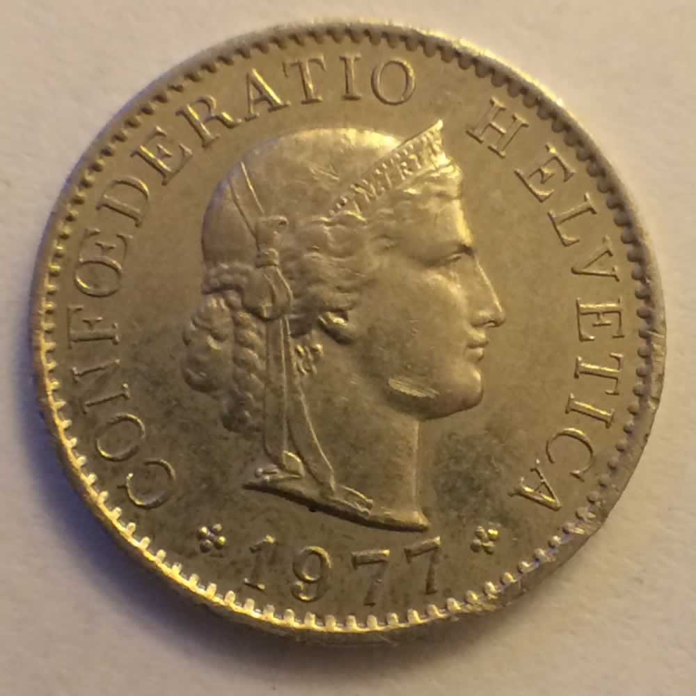 Switzerland 1977  5 Rappen ( 5R ) - Obverse