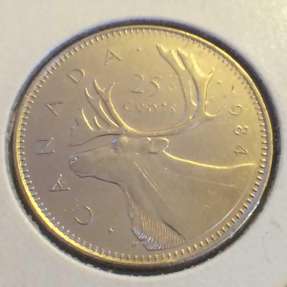 1984 Canada 1979 1989 Elizabeth Ii Canadian Quarter Ofcc Ungraded C25c Ofcc 217 1046