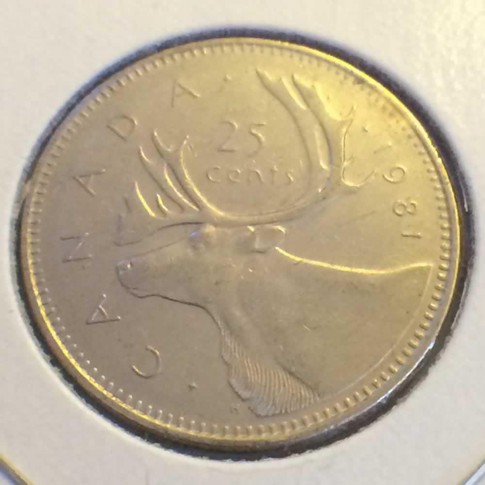 1981 Canada 1979 1989 Elizabeth Ii Canadian Quarter Ofcc Ungraded C25c Ofcc 217 1048