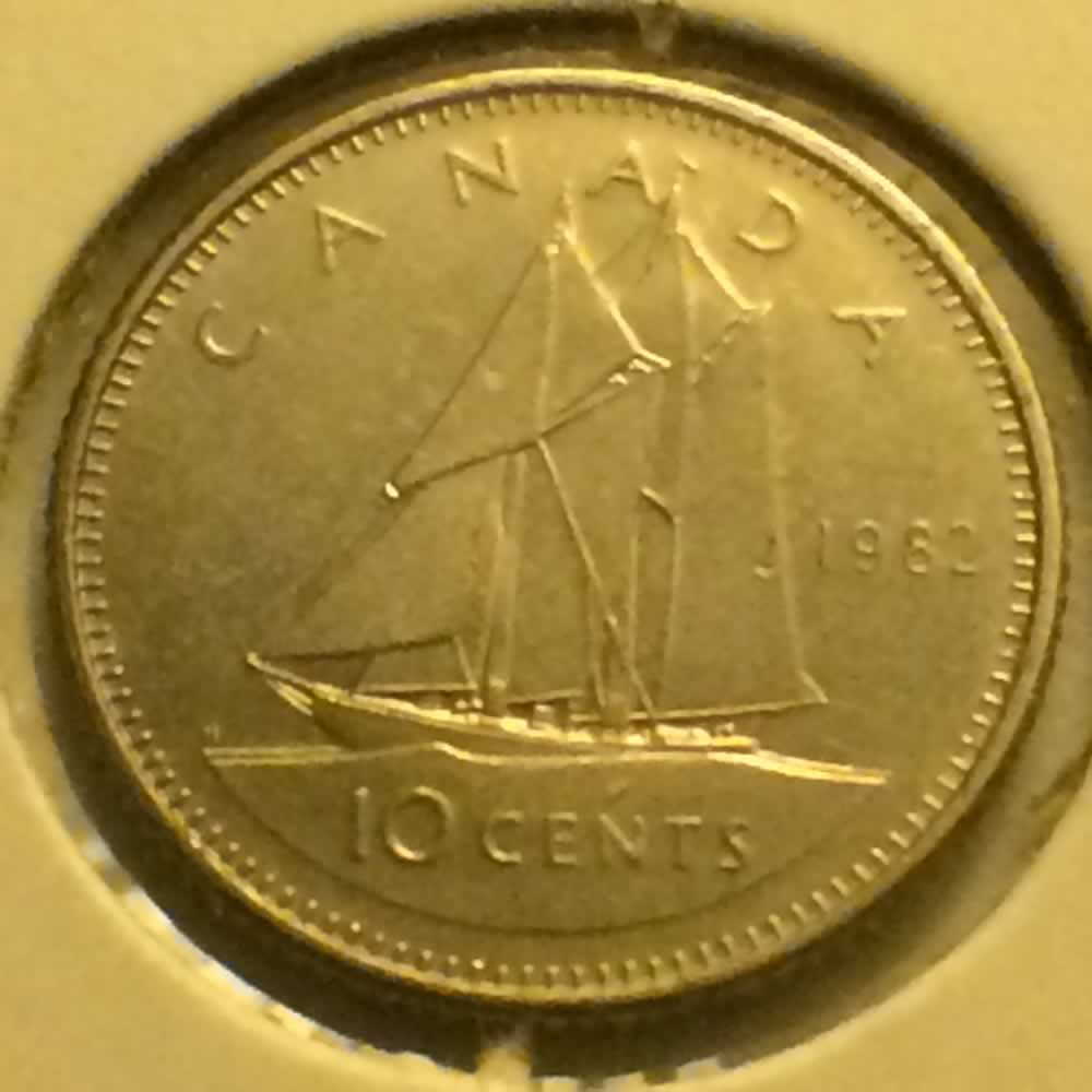 Canada 1982  Canadian Ten Cents ( C10C ) - Reverse